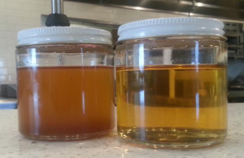 Filtered Oil Comparison